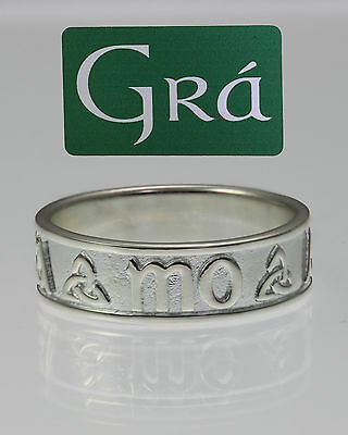 Mo Anam Cara (My Soulmate) Sterling Silver Band (Unisex) - MADE IN IRELAND