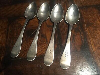 Antique silversmith H. HUDSON Coin Silver SPOONS Louisville Kentucky