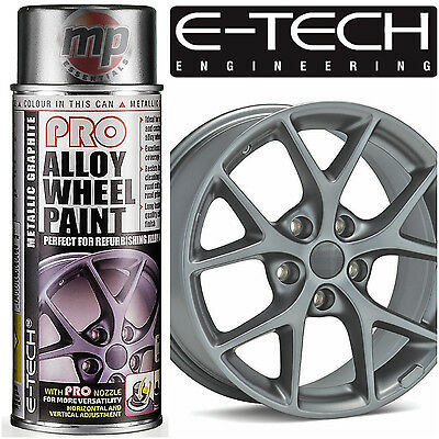 E-Tech PRO Alloy Wheel Refurbish & Refresh Spray Paint - Metallic Graphite Grey