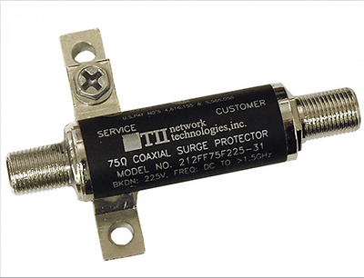 TII Network Technologies 212FF75F225-21 75 Ohm Female To Female Connector Lightn