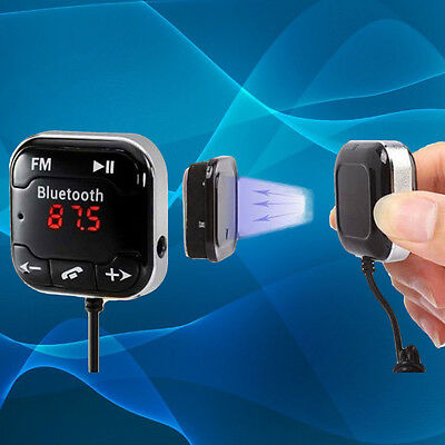 Magnetic Car Kit Wireless Bluetooth FM Transmitter MP3 Player USB LCD Remote GA