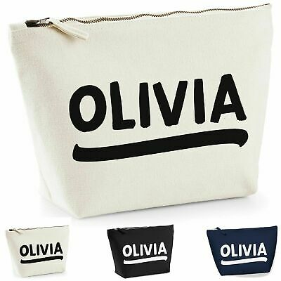 Personalised Wash Bag Make Up Travel ANY NAME Birthday Christmas Present NEW