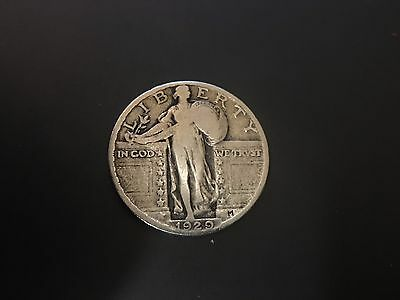 1929-P Standing Liberty Quarter 90% SILVER LOT112
