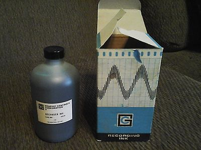 Graphic controls recorder ink 16oz slow dry green NOS