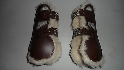 Veredus GRAND PRIX BALOUBET Sheepskin Fluffy TENDON Boots BROWN SIZE LARGE