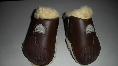 Veredus GRAND PRIX BALOUBET Sheepskin Fluffy FETLOCK Boots BROWN SIZE LARGE