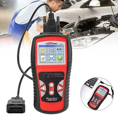 AL519 KW830 CAN Car EOBD OBDII Diagnostic Tool Auto Scanner Fault Code Reader GA
