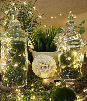1-10 M LED Battery Powered Copper Wire String Fairy Xmas Party Lights Warm White