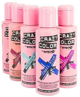Crazy Color Tinta Semipermanente Crema Colorazione Capelli 100 Ml 100Ml Renbow