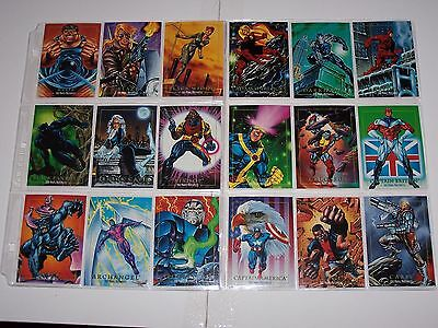 1992 Marvel Masterpiece Set With Inserts