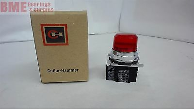 Cutler Hammer 10250T206Nc1N Indicating Light 24V Ac/dc Red Lens Cover Series B2