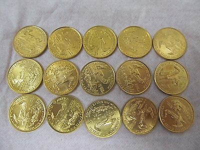 15 mixed $5 1/10 troy oz. American Gold Eagle Coin