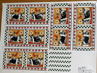 Ceramic Decals  5 Pigs & Cockerels  646814 By Mathey  Right Price