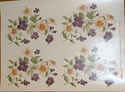 4 LARGE  TAVISTOCK 747826  18 cm X  12 cm CERAMIC DECALS RIGHT PRICE
