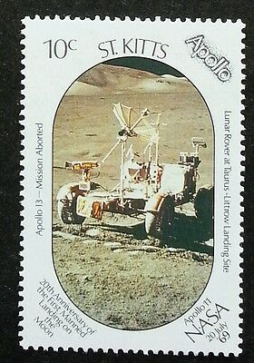 St Kitts Apollo 1969 Space Moon Landing Astronomy (stamp) MNH