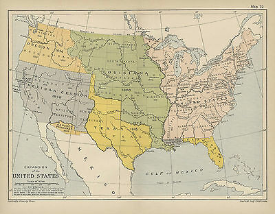 Map Expansion of the United States . 1912