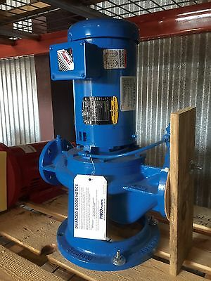 New Grundfos Paco Type VL Vertical Inline Centrifugal Pump & Motor Assembly