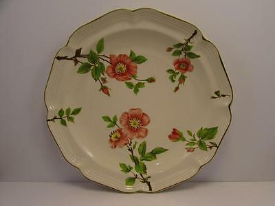 "Pink Blossom by Sango 10-3/4"" Dinner Plate Pink Yellow Flowers Green Trim L110"
