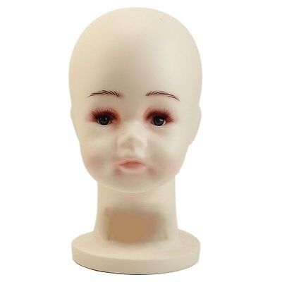 Children Mannequins Manikin Head For Wig Hats Mould Show Stand Model Display G6H