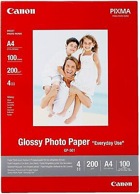 Canon PIXMA GP-501 (A4) 210g/m2 Glossy Photo Paper (White) 1 Pack of 100 Sheets