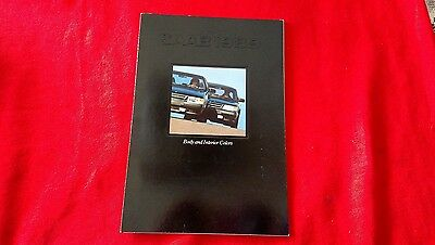 Saab 1989 Body and Interior Colors Brochure Paint Upholstery NOS