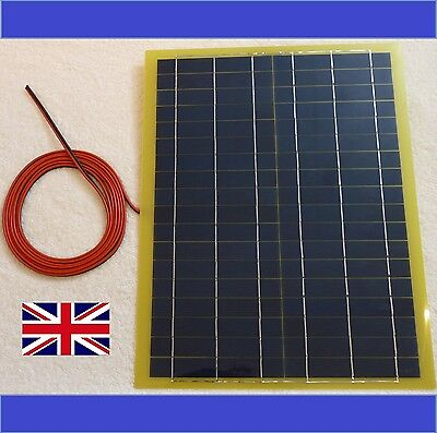 New 20w Very Light Weight PV Solar Panel for Charge 12v Battery + 4m cable free