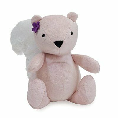 Bedtime Originals Lavender Woods Plush Squirrel, Nibbles Genuine Pillow Toy