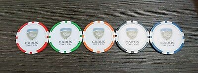 Poker Chip Golf Ball Marker - Carus Green Golf Club (Trilby Tour Host Course)