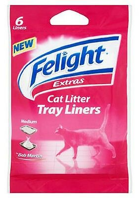 Bob Martin Felight Large / Medium Cat Litter Liners Anti Bacterial 6 / 12 / 24