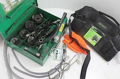 (Huge Lot) Greenlee  7310 Hydraulic Knockout Punch Set Plus Extras!