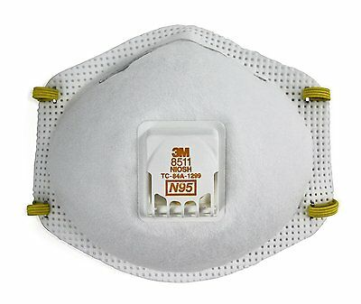 3M 8511 Particulate N95 Respirator with Valve. Full Case of 80 FREE SHIPPING