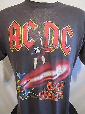RARE Authentic Vintage 80's ACDC Heat Seeker 1988 Concert Tour T Shirt Sz L/XL