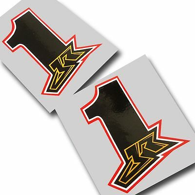 Jonathan Rea World SBK JR  number 1  graphics stickers  x 2 pieces