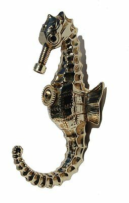 Steampunk Seahorse Wall Hook   Statue Sculpture Figure   Wall Decor