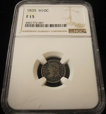 1835 Capped Bust Half Dime, NGC F 15 !