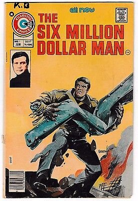 SIX MILLION DOLLAR MAN #1 (VG-) Charlton Joe Staton Art! 1976 Collectors Issue