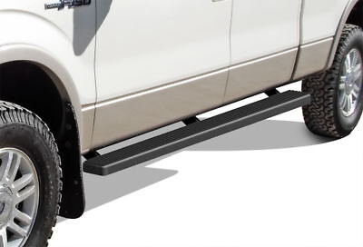 """Matte Black 4"""" iBoard Running Boards 09-14 Ford F-150 SuperCrew Cab"""