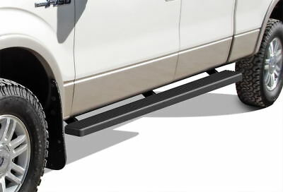 """iBoard Running Boards 4"""" Matte Black Fit 09-14 Ford F150 SuperCrew Cab"""
