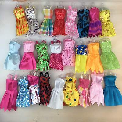 10 Barbie Doll Dresses Clothes Bundle UK SELLER