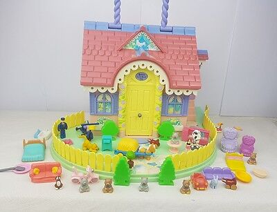 Lucy Locket Dream House Cottage with Carry Handle 1994 Figures, Accessories
