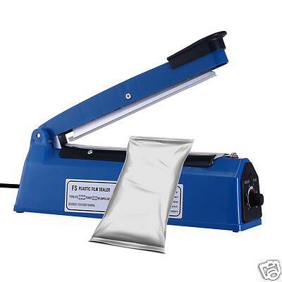 "10"" Heat Sealing Hand Impulse Sealer Machine Poly Free Element Plastic Sealer"