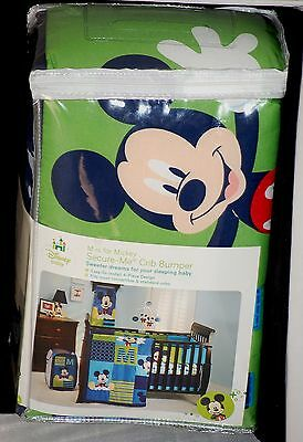 Disney Baby Secure-Me Crib Bumper Pads - Mickey Mouse