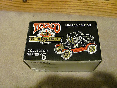 BRAND NEW Ertl Texaco 1918 Ford Runabout Collector #5 RARE NEW
