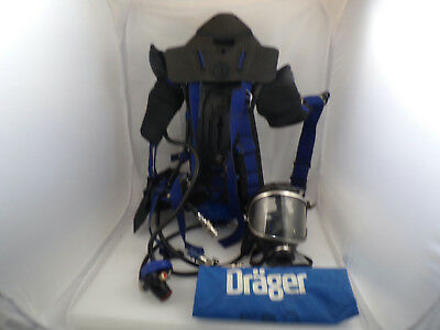 DRAGER 3338040 45min 4500psi Breathing System SCBA w/ Carrying Case Used #1