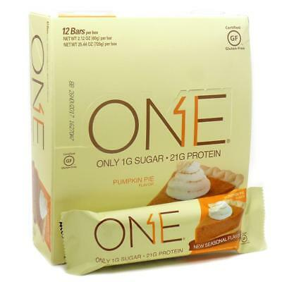 Oh Yeah! One Bar Pumpkin Pie 12ct 21g Protein Energy Whey Gluten-Free Snack CHOP