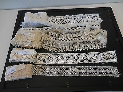 vintage hand made lace lot of 4 different styles