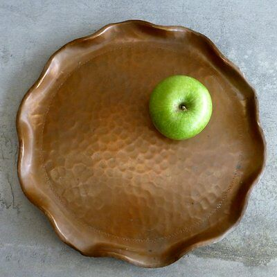 Vintage Handcrafted Copper Serving Tray 30cm by R.Head Port Macquarie Australia