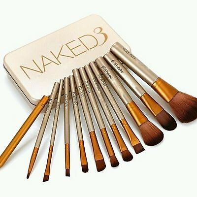 12Ps NEW Nake3 Makeup Brush Set Cosmetic Brushes Blusher Eyeshadow Consealer Lip