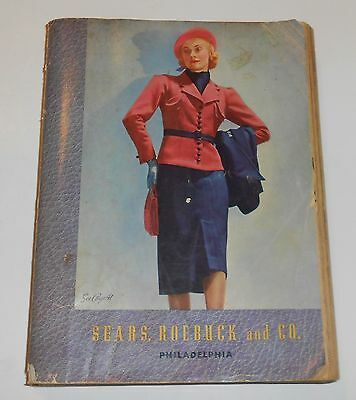 Antique 1937-1938 SEARS Fall / Winter Catalog 1930's Fashions 15-Pages of TOYS