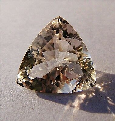 AAA 12.5 Carat - 17mm Trillion Faceted Herkimer Diamond - Genuine from NY